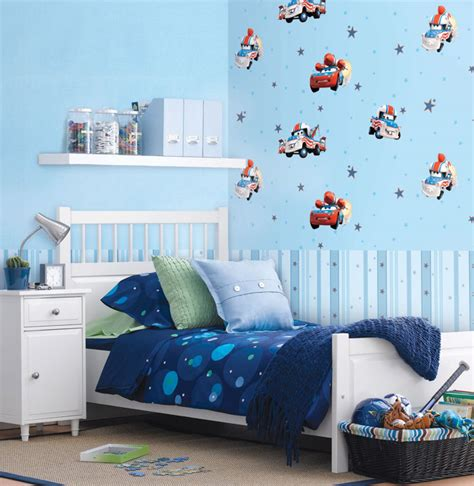 Wallpaper Sticker Dinding Kartun Anak Hello Garis Biru 10 motif wallpaper dinding untuk anak anak dan balita desain wa
