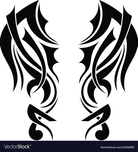 tribal tattoo vectorial tribal wing vector www pixshark images galleries