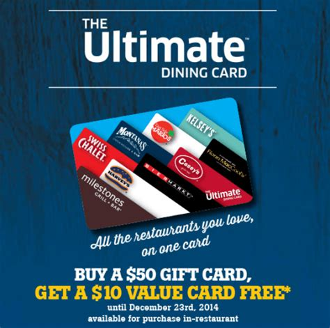 Ultimate Gift Card - east side marios canada offers buy a 50 dining gift card for east side marios swiss