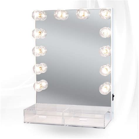 vanity mirror with drawers and lights impressions vanity co hollywood crystal xl vanity