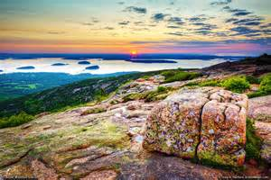 How To Get To Cadillac Mountain Cadillac Mountain With Large Granite Boulder