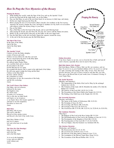 printable rosary instructions how to say the rosary inspiration pinterest praying
