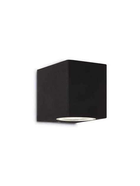 applique cubo applique per esterno cubo con vetro 1 luce moderno up nero