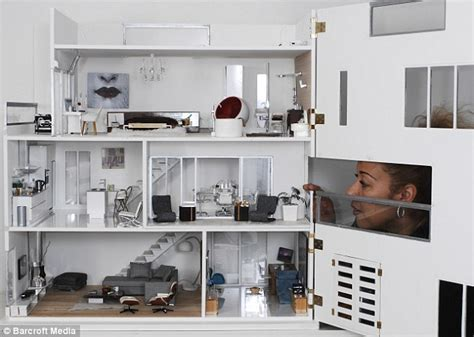 second hand dolls house furniture pictured the immaculate modern day dolls house set to take collectors by storm
