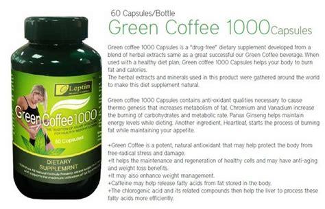 Leptin Green Coffee 1000 leptin green coffee 1000 capsule id 7472032 product