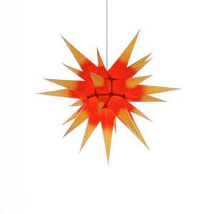 weihnachtssterne mit beleuchtung herrnhuter weihnachtsstern i6 gelb rot mit beleuchtung