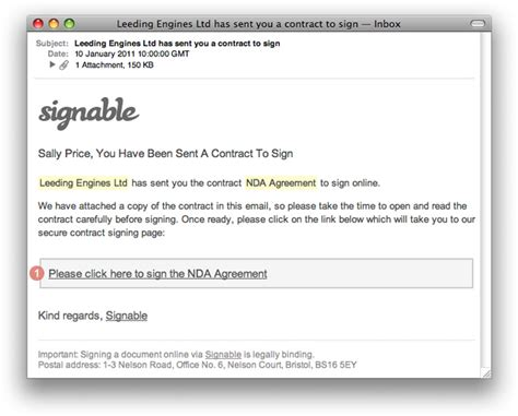 How Do Esignatures Work How To Use Signable Email Template For Sending Contract