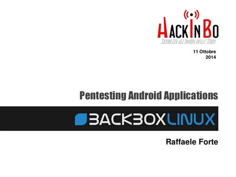 android pentesting pentesting android with backbox 4