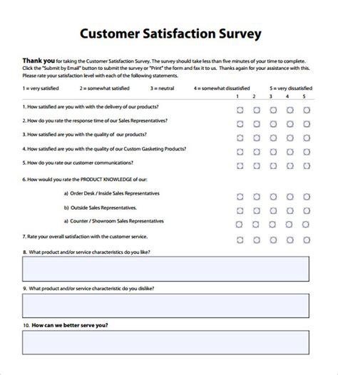 client study template 8 client satisfaction survey templates free sle