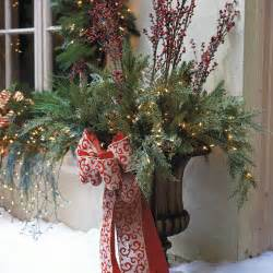 Christmas Outdoor Decorations by Outdoor Urn Decor Christmas Homes Decoration Tips