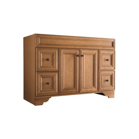 Lowes Bathroom Vanities On Sale Shop Style Selections Ryerson Golden Traditional Bathroom Vanity Common 48 In X 21 In Actual