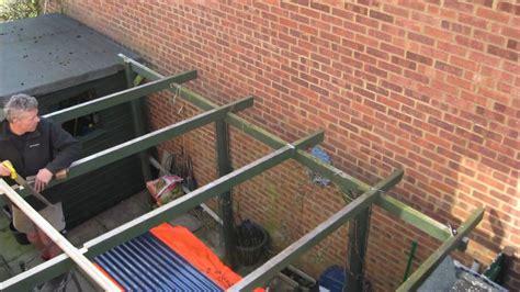 fitting corrugated roof  timelapse youtube
