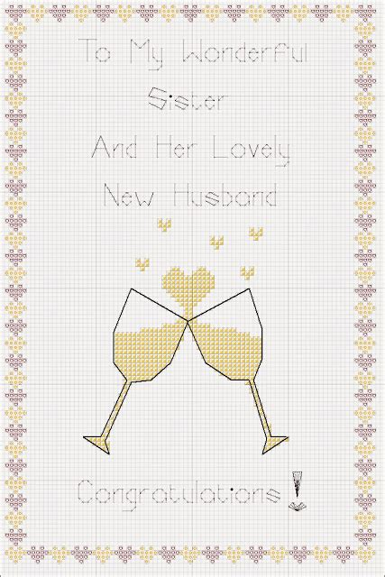 Card Stitch Templated by You Sew Should Free Chart Wedding Card