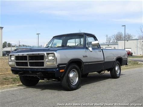 how to sell used cars 1993 dodge ram wagon b350 user handbook 1993 dodge ram 250 le 5 9 cummins turbo diesel re 330612 miles blue pickup truck