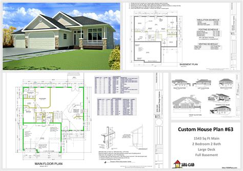 plan 63 1541 sq ft custom home design dwg and pdf logan