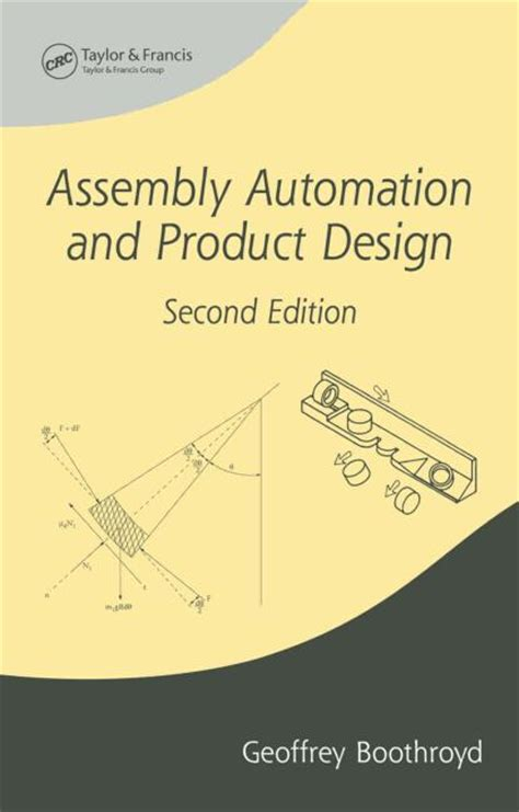 design for manufacturing and assembly boothroyd assembly automation and product design second edition