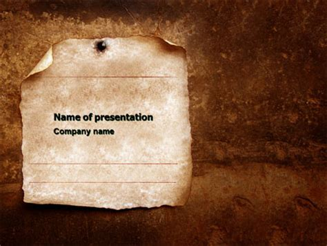 old paper theme presentation template for powerpoint and