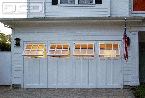 swing open carriage garage door conversion  functional