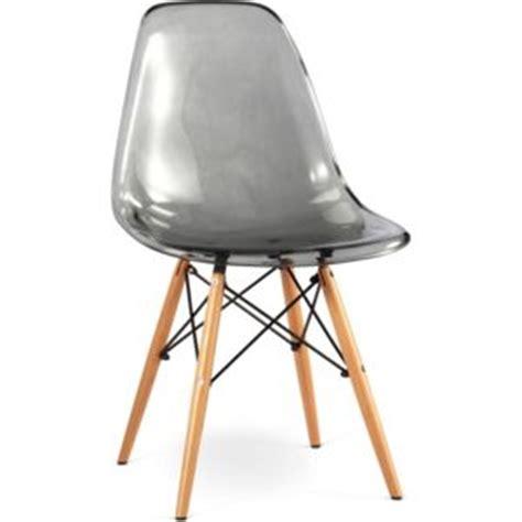 Chaise Série 7 by Privatefloor Chaise Geneva Polycarbonate Lot De 2 Gris