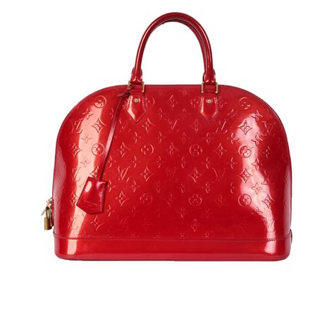 Louis Vuitton Vernis Alma Gm Red Luxity