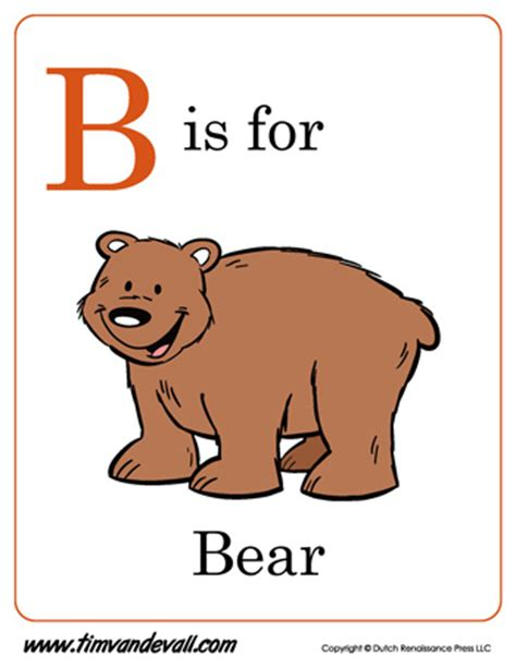 B is for Bear   Letter B Coloring Page PDF