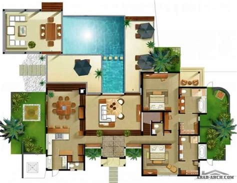 modern villa plan ultra house plans 187 arab arch