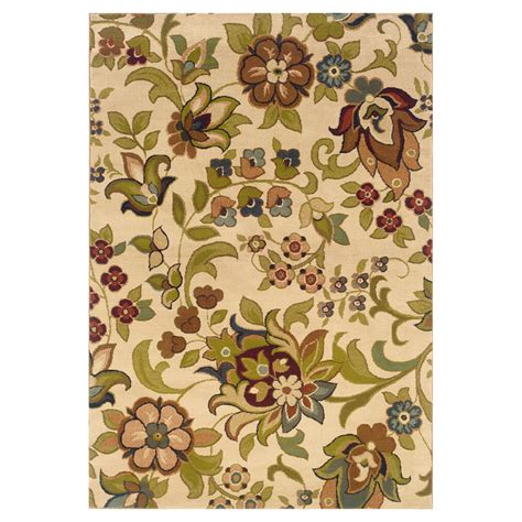 weavers of america area rugs shop weavers of america ivory rectangular indoor woven nature area rug common