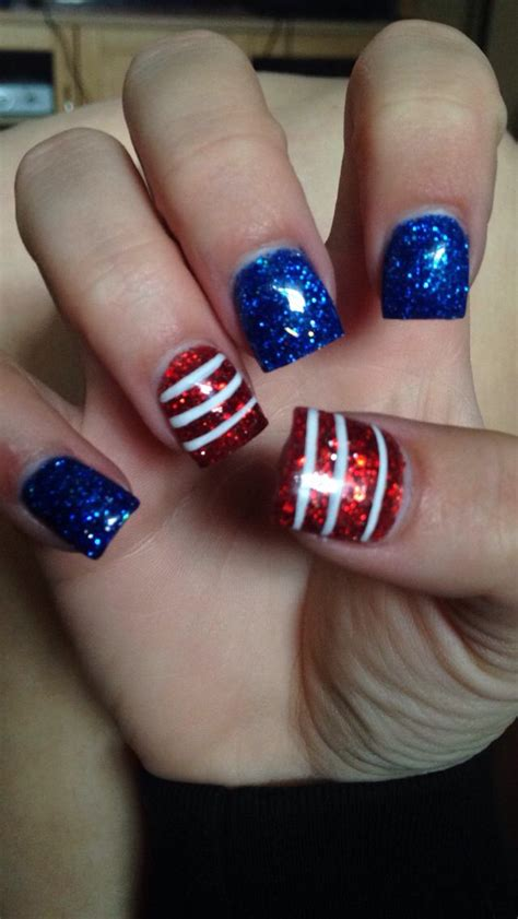 red acrylic 4th of july nils 517 best 4th of july nail art images on pinterest july