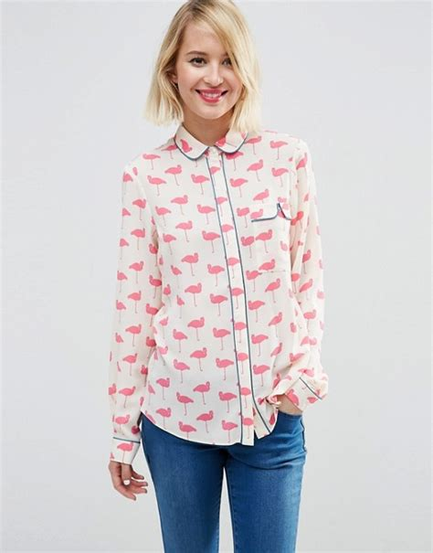 Flaminggo Tunik Top Atasan Blouse asos asos flamingo pyjama blouse
