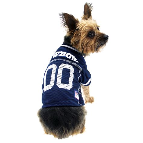 dfw puppy dallas cowboys officially licensed jersey white trim baxterboo