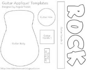 guitar cut out template angela yosten big brothers rock tutorial