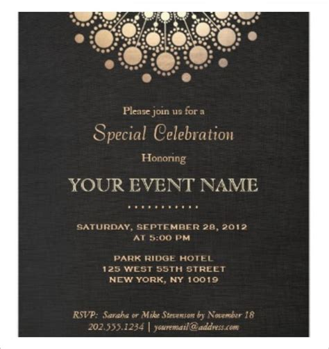 Event Invitation Card Template by Business Invitation Templates Invitation Template
