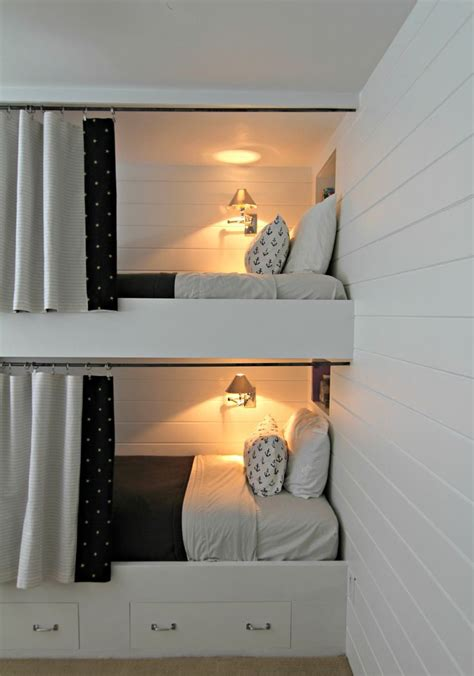 functional  stylish kids bunk beds  lights