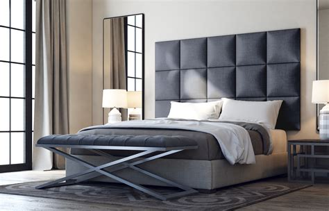 bed with soft headboard soft square modern headboard panel customize designer