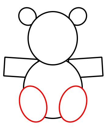 draw shapes how to draw a teddy