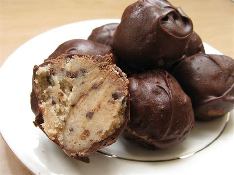 chocolate chip cookie dough truffles my edible memories
