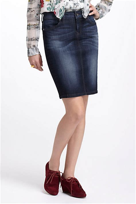 level 99 slim denim pencil skirt anthropologie