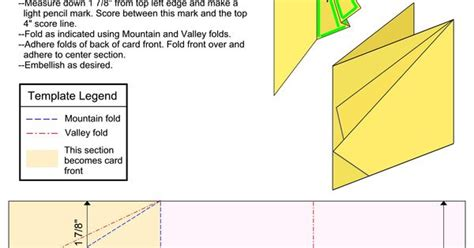 4x4 Card Template by Card Templates Tri Fold 4x4 Card Image By D0npen