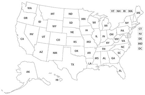 Drawing 50 States by Blank United States Map Dr