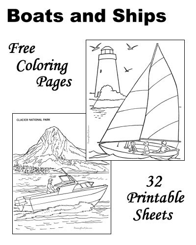 boat drawing activity coloring pages of boats