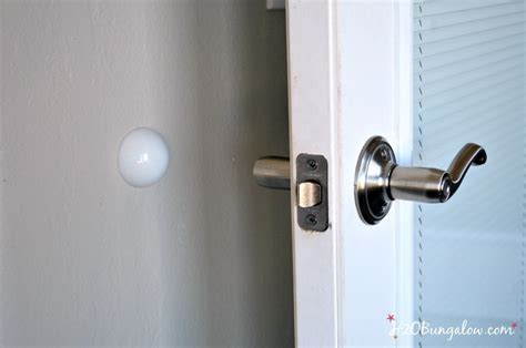 How To Fix In Wall From Door Knob by 3 Ways To Prevent Door Knob Holes In Walls H20bungalow