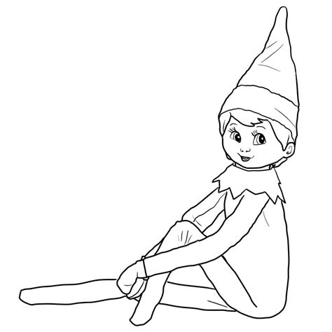 elf on the shelf and santa coloring pages elf coloring pages getcoloringpages com