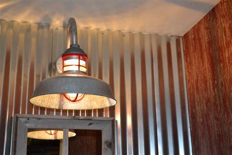 Galvanized Barn Light Fixtures Galvanized Gooseneck Light Adds Element To New Barn Home Barnlightelectric