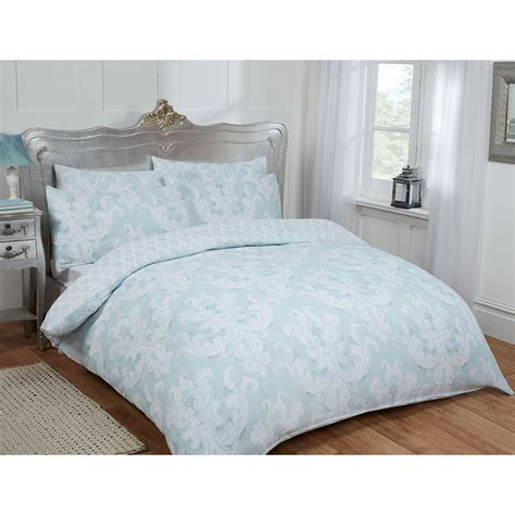 Duck Egg Bed Sets Damask Duvet Set Duck Egg Bedding B M