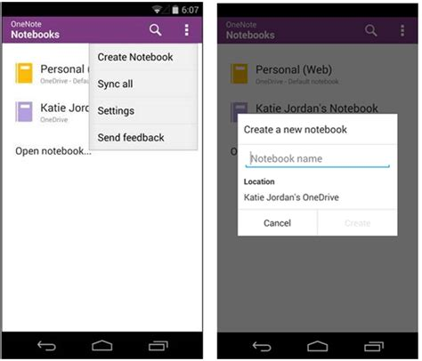 section management onenote for android gets onedrive notebook section management