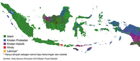 Di Indonesia religious map of indonesia 800x550 mapporn