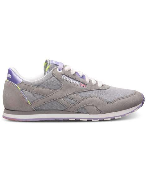 s reebok sneakers reebok s classic slim jacquard casual sneakers