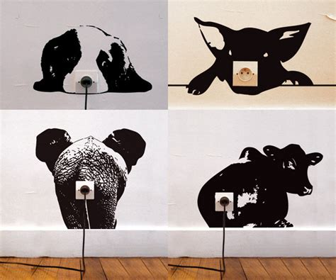 creative wall stickers 20 creative wall outlet stickers and covers for your inspiration hongkiat