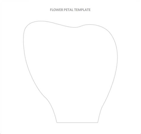 10 Beautiful Sle Flower Petal Templates Sle Templates Large Flower Petal Template Printable