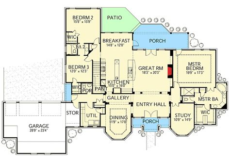 house designs floor plans games hill country house plan with game room 28325hj